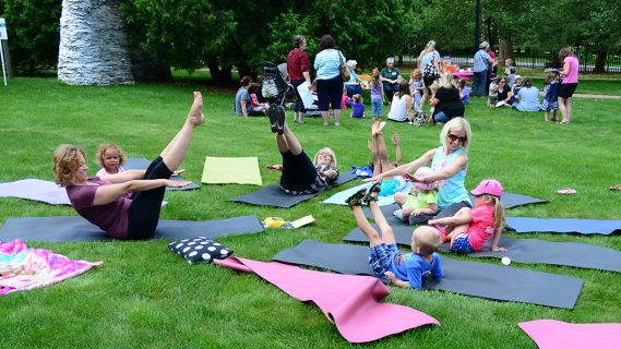 Extra Terrific Toddler Tuesday Yoga at the Woodson Art Museum