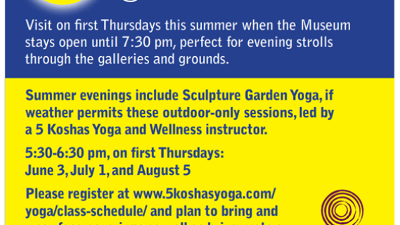 FREE Free Socially Distanced & Masked Sculpture Garden Yoga at Leigh Yawkey Woodson Art Museum
